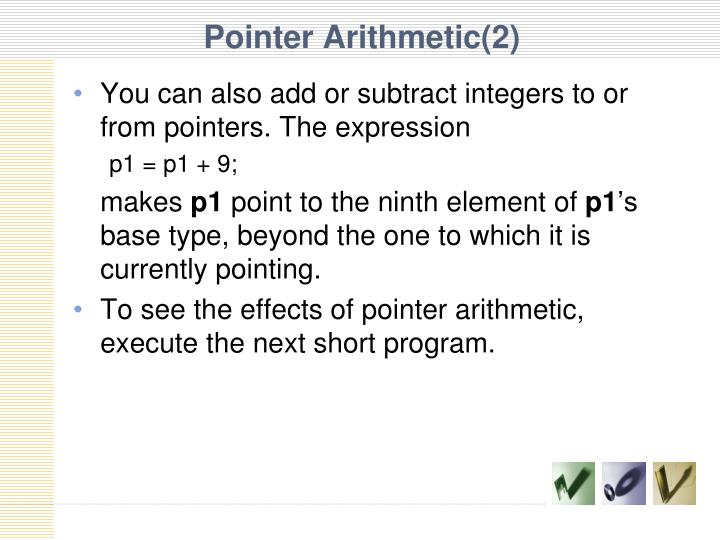 Pointer Arithmetic(2)