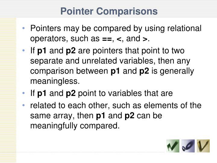 Pointer Comparisons