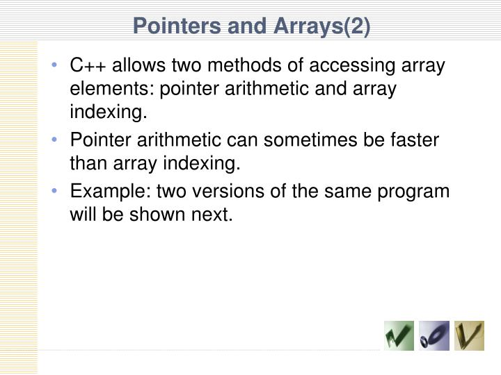 Pointers and Arrays(2)