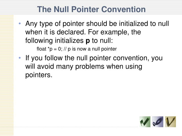 The Null Pointer Convention
