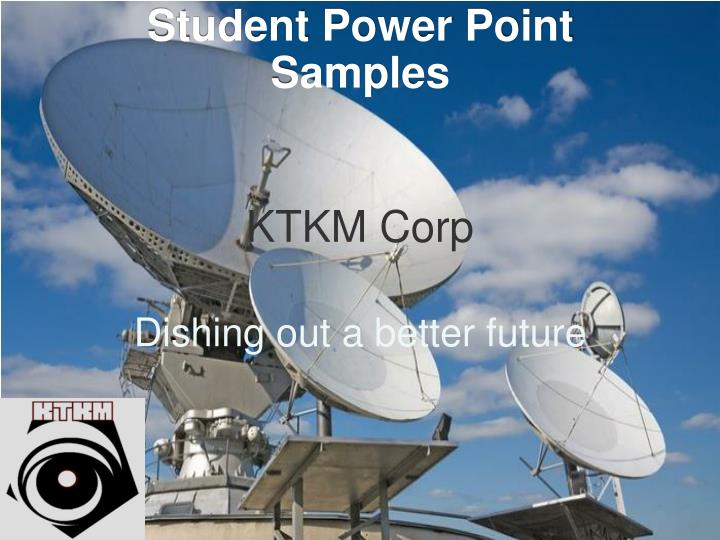 Student Power Point Samples