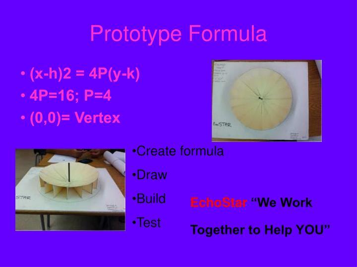 Prototype Formula