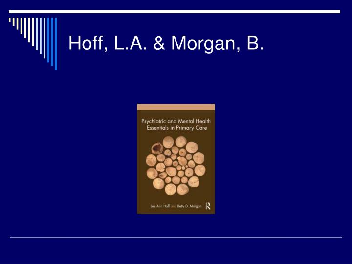 Hoff, L.A. & Morgan, B.