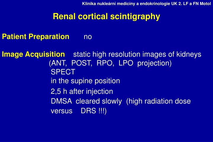 Renal cortical scintigraphy