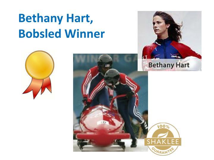 Bethany Hart, Bobsled Winner