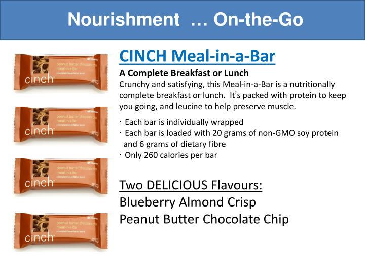 Nourishment  … On-the-Go