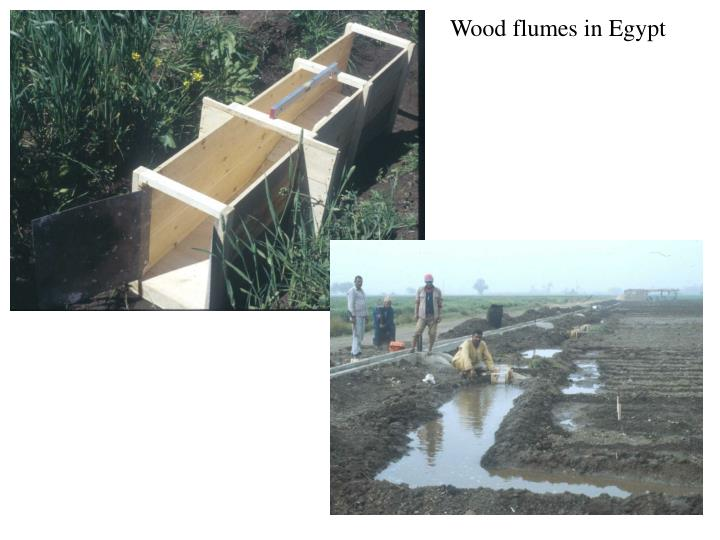 Wood flumes in Egypt