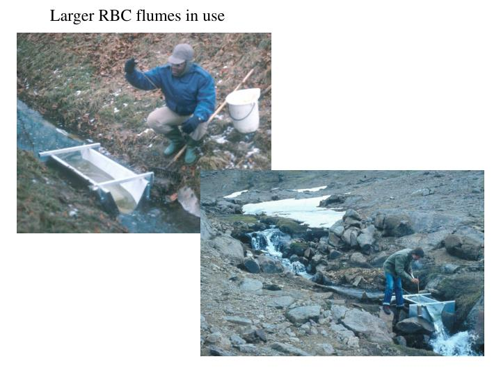 Larger RBC flumes in use