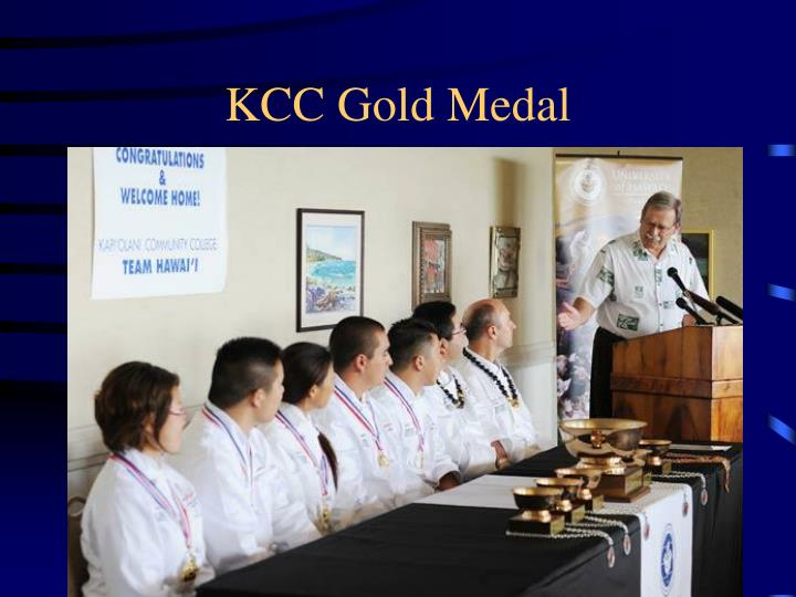 KCC Gold Medal