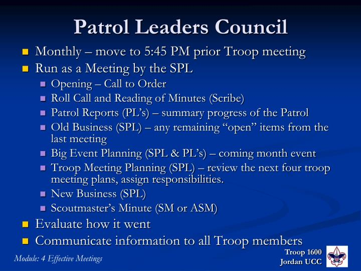 Patrol Leaders Council