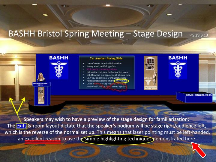BASHH Bristol Spring Meeting – Stage Design