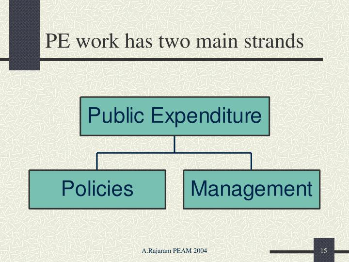 PE work has two main strands