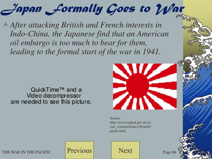 Japan Formally Goes to War