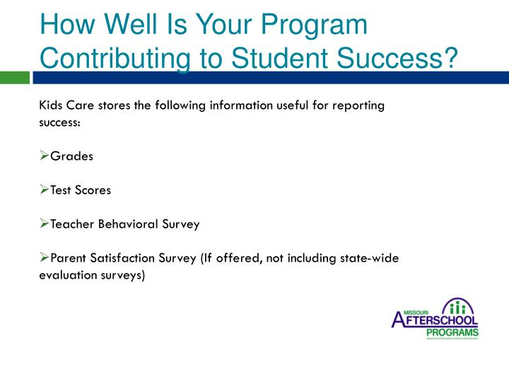 How Well Is Your Program Contributing to Student Success?