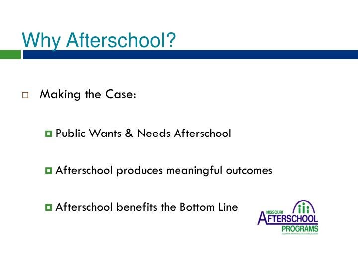 Why Afterschool?
