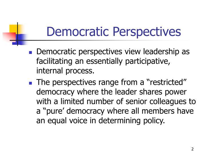 Democratic Perspectives