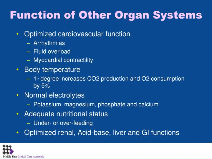 Function of Other Organ Systems