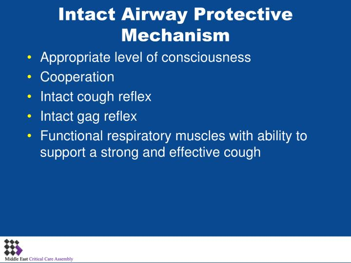 Intact Airway Protective Mechanism
