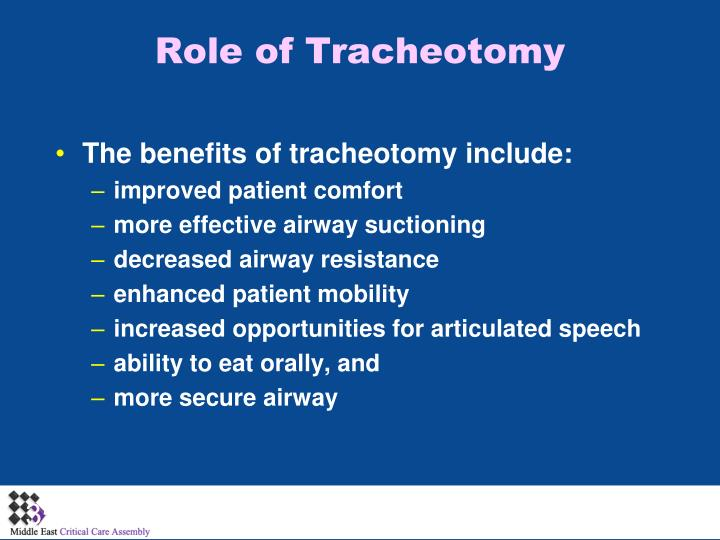 Role of Tracheotomy