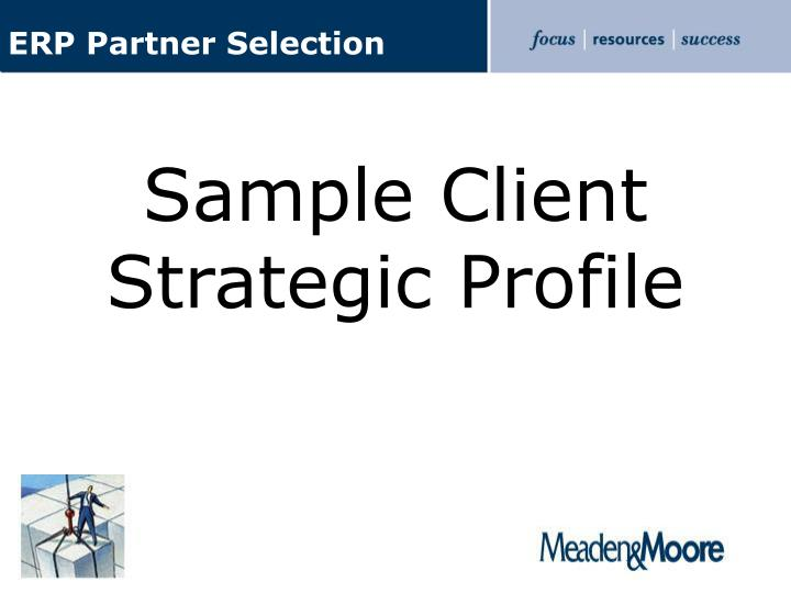 ERP Partner Selection