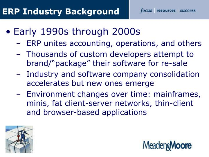ERP Industry Background