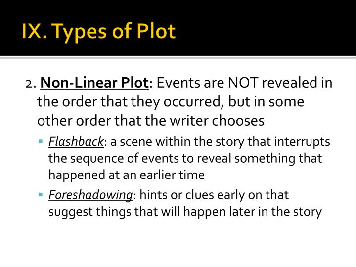IX. Types of Plot