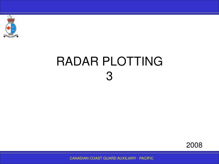 Radar plotting 3