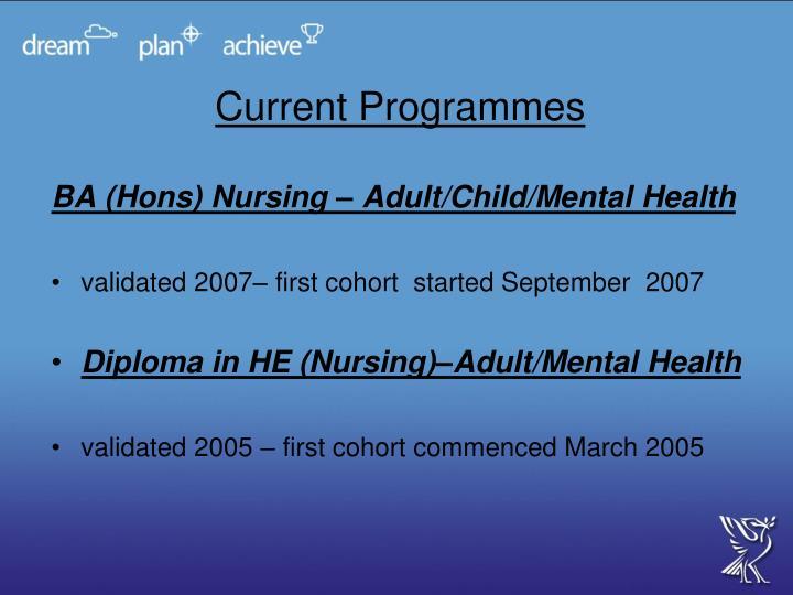 Current Programmes