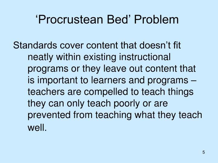 'Procrustean Bed' Problem