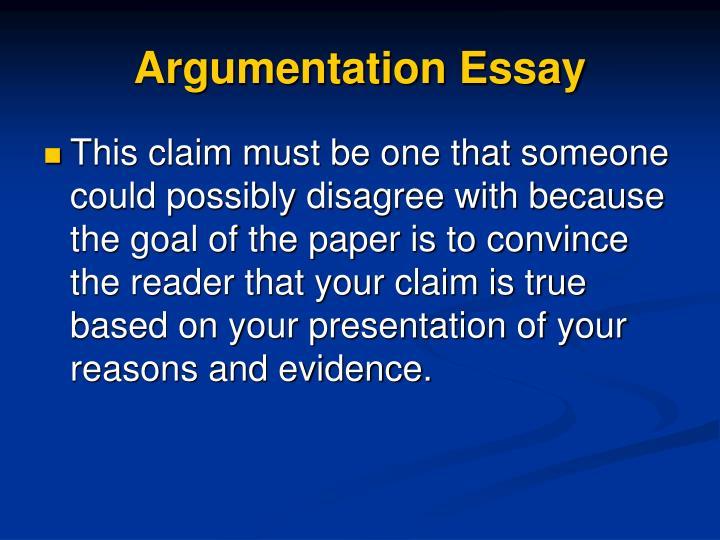 Argumentation Essay