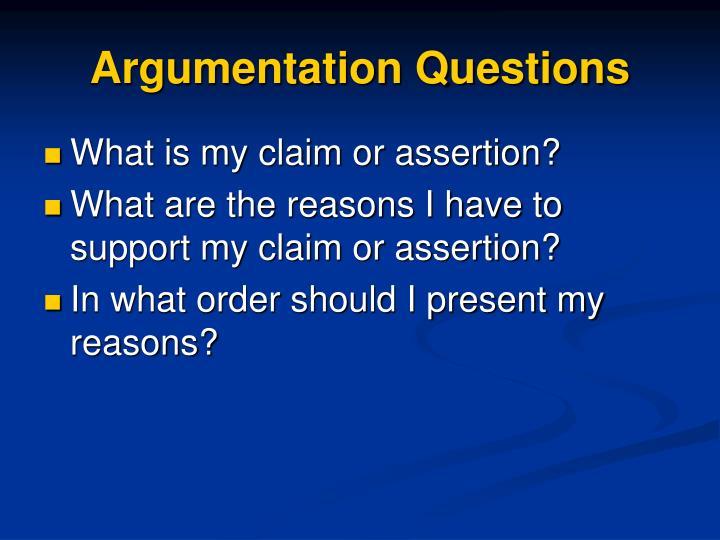 Argumentation Questions