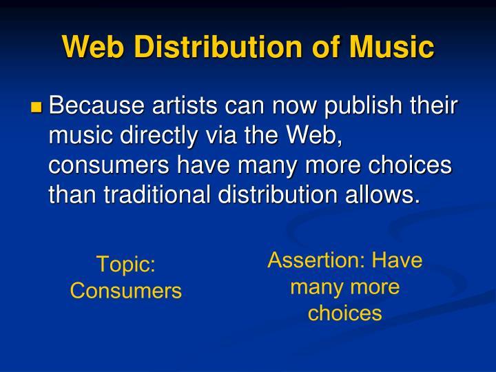 Web Distribution of Music