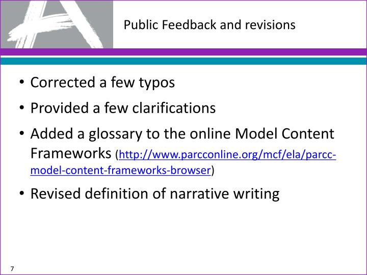 Public Feedback and revisions