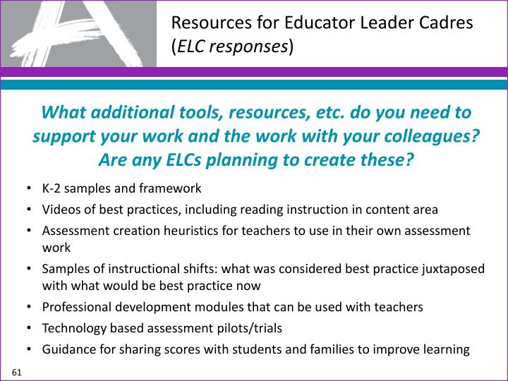 Resources for Educator Leader Cadres (