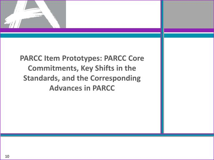 PARCC Item Prototypes: