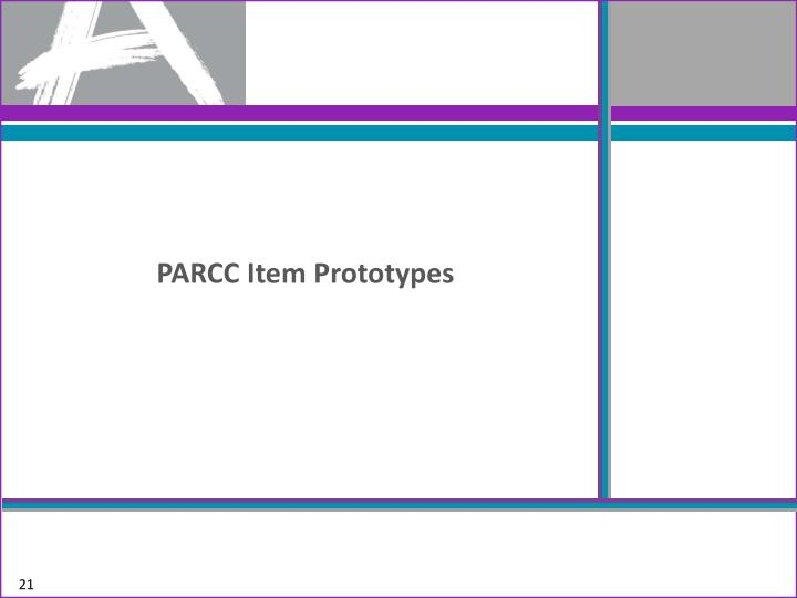 PARCC Item Prototypes