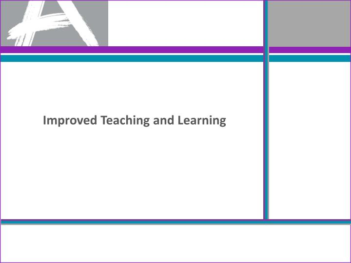 Improved Teaching and Learning