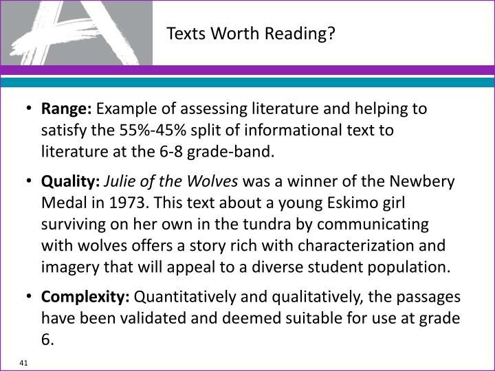 Texts Worth Reading?