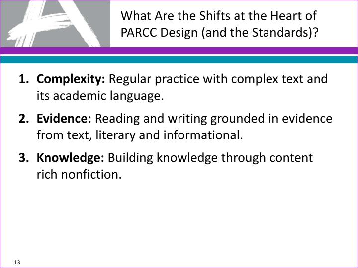 What Are the Shifts at the Heart of PARCC Design (and the Standards)?