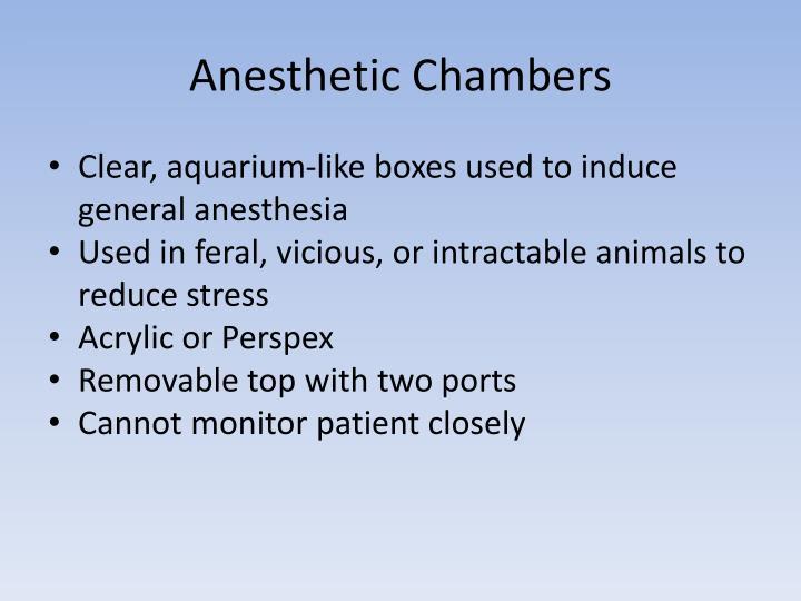 Anesthetic Chambers