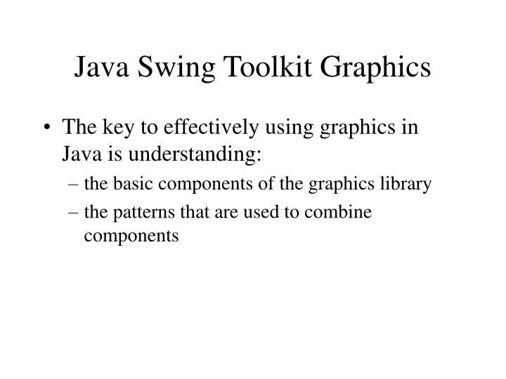 Java swing toolkit graphics