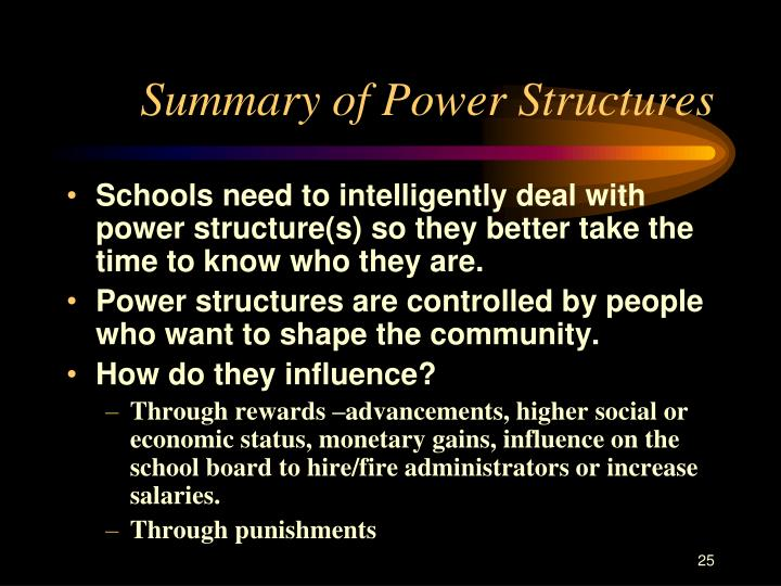 Summary of Power Structures