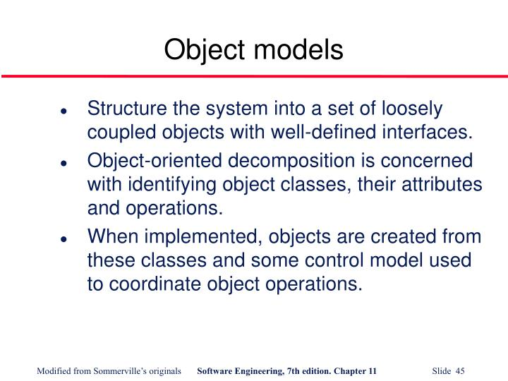 Object models