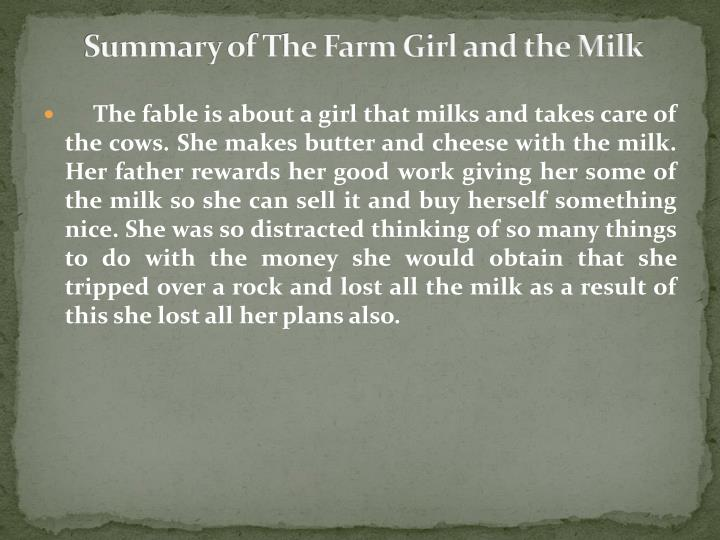 Summary of the farm girl and the milk