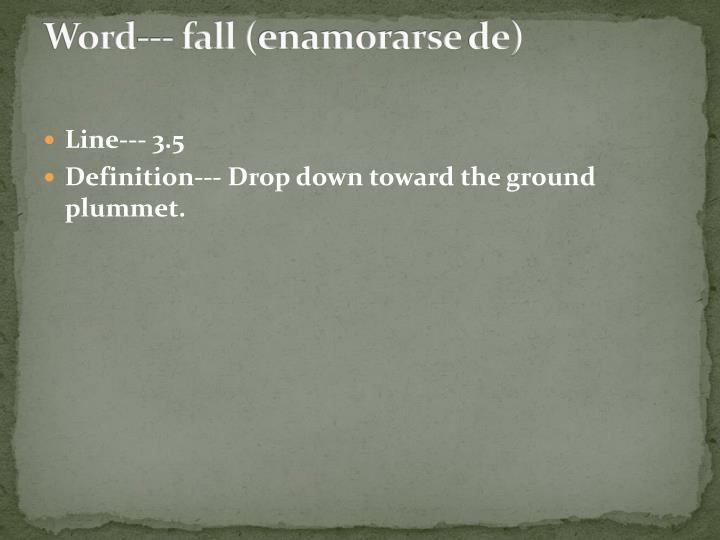 Word--- fall (