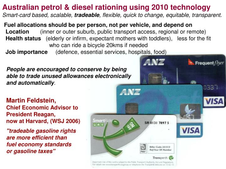Australian petrol & diesel rationing using 2010 technology