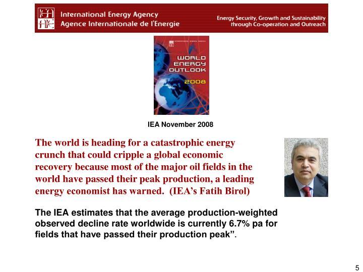 IEA November 2008