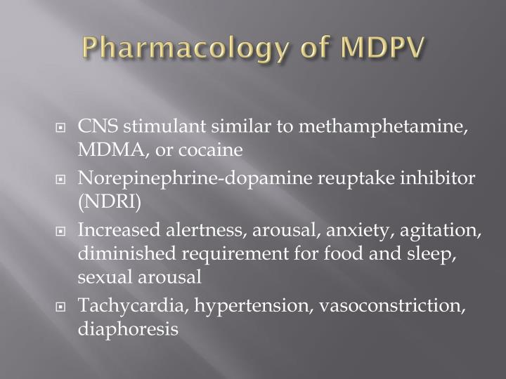 Pharmacology of MDPV