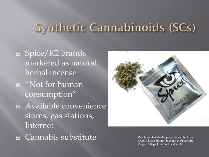 Synthetic cannabinoids scs
