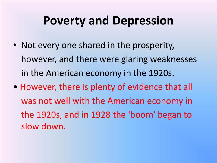 Poverty and Depression